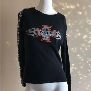 Y2K Skull/Flame Shirt